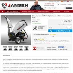 Schredder Jansen GTS-1500E, Gartenschredder, Gartenhäcksler, 15 PS