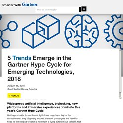 5 Trends Emerge in the Gartner Hype Cycle for Emerging Technologies, 2018