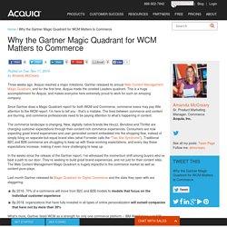 Why the Gartner Magic Quadrant for WCM Matters to Commerce