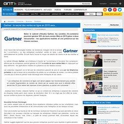 Gartner : le secret des ventes en ligne en 2015 sera...