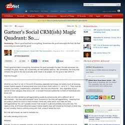 Gartner's Social CRM(ish) Magic Quadrant: So....
