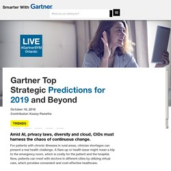 Gartner Top StrategicPredictions for 2019 and Beyond