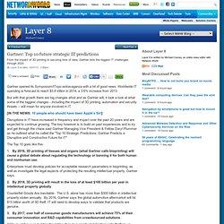 Gartner: Top 10 future strategic IT predictions