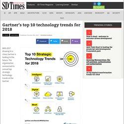 Gartner's top 10 technology trends for 2018