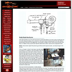 Gas Forge Burner plan and links