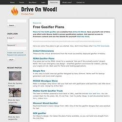 Free Gasifier Plans