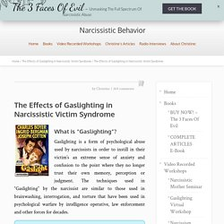 The Effects of Gaslighting on Victims of Narcissistic Abuse