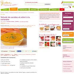 Gaspacho de carottes et céleri (velouté glacé