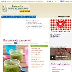 Gaspacho de courgettes