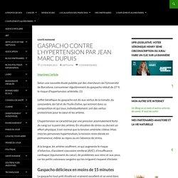 Gaspacho contre l'hypertension Par Jean Marc Dupuis