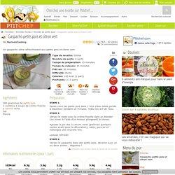 Gaspacho petits pois et citron vert, Recette Ptitchef