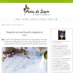 Gaspacho vert au brocoli, courgette et lait de coco