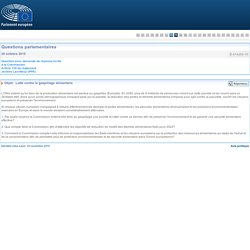 PARLEMENT EUROPEEN - Réponse à question E-014253-15 Lutte contre le gaspillage alimentaire