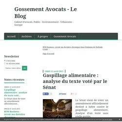 Gaspillage alimentaire : analyse du texte voté par le Sénat - Gossement Avocats - Le Blog