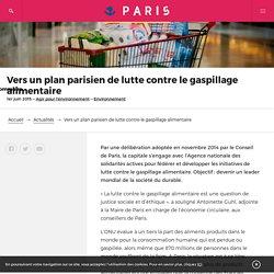 VILLE DE PARIS 19/11/14 Vers un plan parisien de lutte contre le gaspillage alimentaire