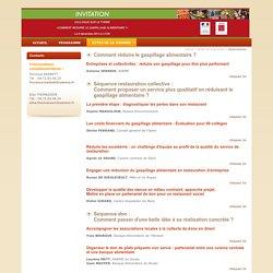 MAAF/ADEME 09/12/14 Actes du colloque de Lyon : comment réduire le gaspillage alimentaire,
