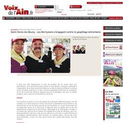VOIX DE L AIN 26/07/16 Saint-Denis-les-Bourg - Les Bio'nysiens s'engagent contre le gaspillage alimentaire