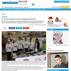 JOURNAL D ABBEVILLE 29/11/15 Abbeville - La recette des lycéens contre le gaspillage alimentaire