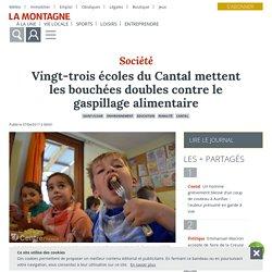 LA MONTAGNE 07/04/17 Vingt-trois écoles du Cantal mettent les bouchées doubles contre le gaspillage alimentaire