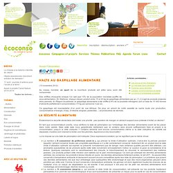 ECO CONSO - AVRIL 2005 - Halte au gaspillage alimentaire