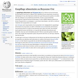 WIKIPEDIA - Gaspillage alimentaire au Royaume-Uni.