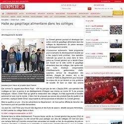 LA DEPECHE 03/04/14 GERS - Halte au gaspillage alimentaire dans les collèges