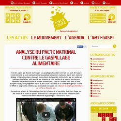 DISCOSOUPE - 2014 - Analyse du pacte national contre le gaspillage alimentaire