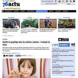 76ACTU 20/09/13 Qualité et gaspillage dans les cantines scolaires : l'exemple du Havre