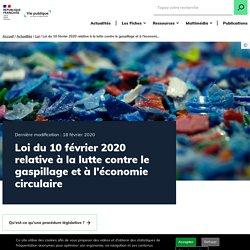Loi lutte contre le gaspillage et économie circulaire