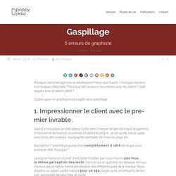 Gaspillage : 5 erreurs de graphiste · Poppy Jikko · Illustration, Graphisme et Marketing Agile.