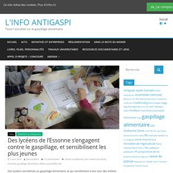 LINFOANGISAPI 05/04/16 Des lycéens de l'Essonne s'engagent contre le gaspillage, et sensibilisent les plus jeunes.