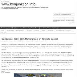 Gastbeitrag: 1960, #CIA Memorandum on #Climate Control!