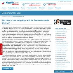 Gastroenterologist Email List, Gastroenterologists Mailing Database