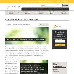 Zinc-carnosine and gastrointestinal health