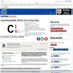 Ranking de GASTRONOMÍA TÍPICA DE CATALUÑA.
