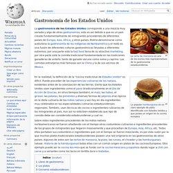 Gastronomía de los Estados Unidos