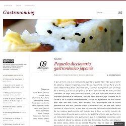 Pequeño diccionario gastronómico japonés
