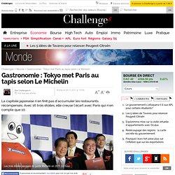 Gastronomie : Tokyo met Paris au tapis selon Le Michelin