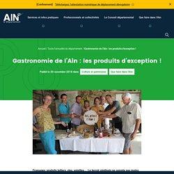 AIN_FR 30/11/18 Les 14 produits gastronomiques de l'Ain labelisés AOP, AOC, IGP et Label Rouge
