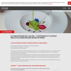 Gastronomie savoie : Les 3 vallées, tables étoilées Le Chabichou, La Bouitte