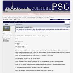Gastronomie - Forum de Culture PSG
