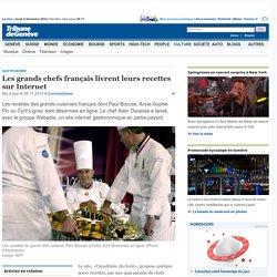 Doc 3: Gastronomie: Les grands chefs français livrent leurs recettes sur Internet - Culture: Autres Arts