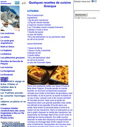 Grèce Recettes de Cuisine Gastronomie, recettes de cuisine et traditions en Europe. Information et Tourisme Européen.