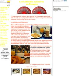 Espagne Les habitudes Culinaires Gastronomie, recettes de cuisine et traditions en Europe. Information et Tourisme Européen.
