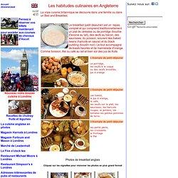 Angleterre Habitudes Culinaires Gastronomie