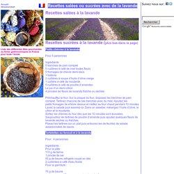France Recettes à la lavande, Gastronomie, recettes de cuisine et traditions en Europe. Information et Tourisme Européen.