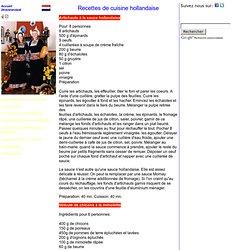 Hollande Recettes de Cuisine Gastronomie
