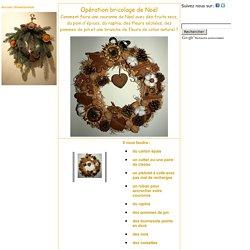 faire une couronne de Noël, préparer une couronne de Noël avec des fruits secs du raphia du pain d épices des fleurs séchées, decoration de Plats Gastronomie, recettes de cuisine et traditions en Europe. Information et Tourisme Européen.