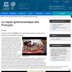 Le repas gastronomique des Français - patrimoine immatériel - Secteur de la culture - UNESCO
