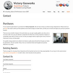 Victory Gasworks: Woodgas Generator, Turn-key Home Solar Power, CHP Natural Gas Generators, Gasifier, Biomass Energy